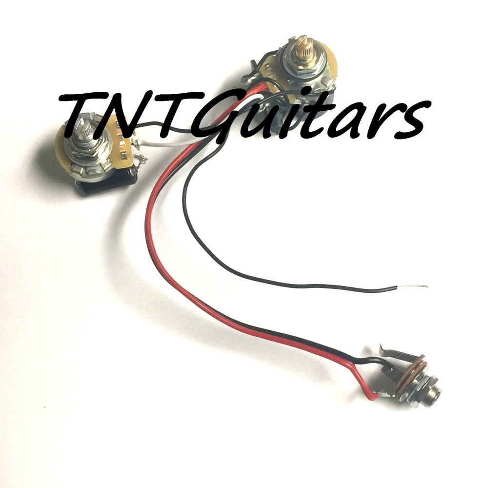 medium resolution of 1v1t one pickup wiring harness cts precision push pull coil split one pickup guitar wiring harness