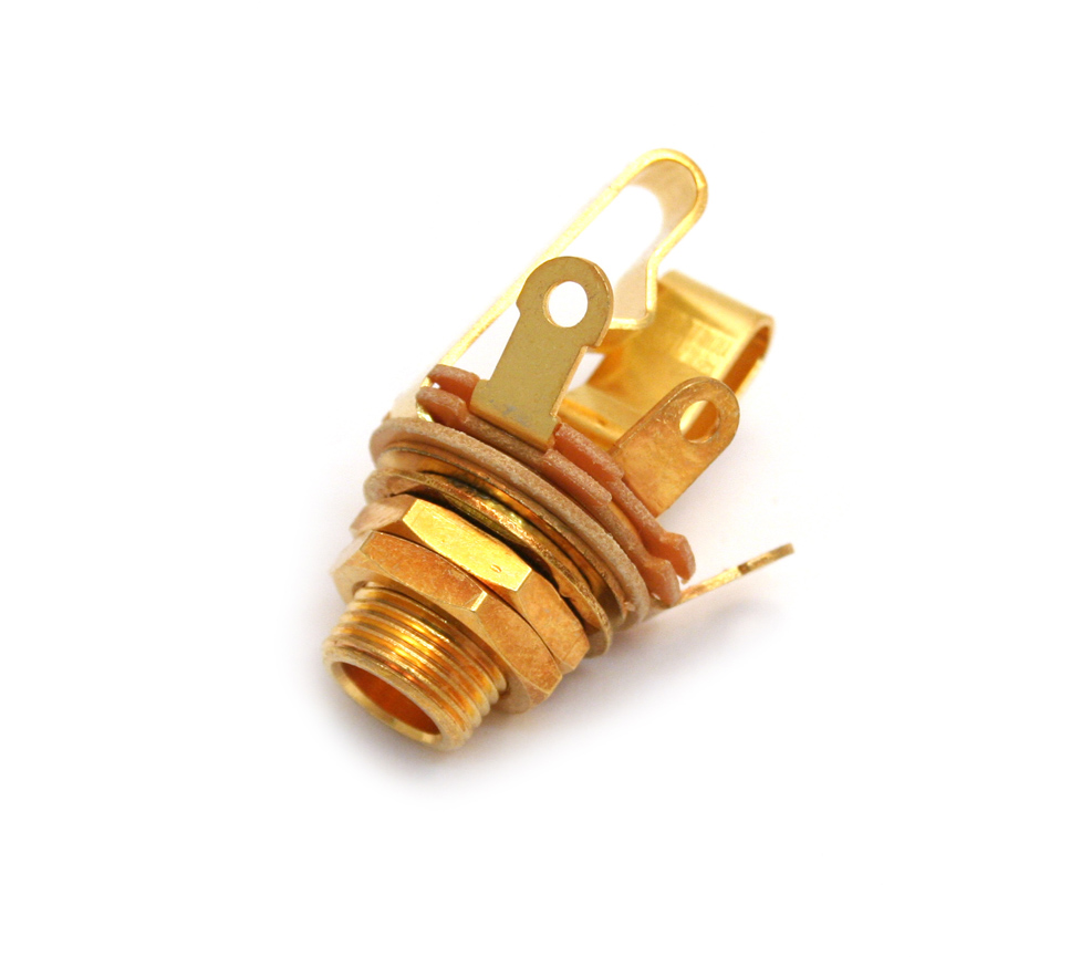 hight resolution of long 1 4 gold stereo jack