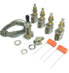 premium jimmy page wiring kit for les paul  [ 2343 x 2317 Pixel ]