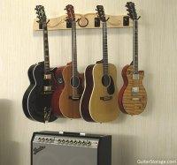 The Pro-File Wall Mounted Multi Guitar Hanger Guitar Storage