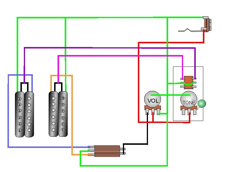 guitar wiring diagrams coil split painless diagram lt1 tap craig u0027s giutar tech resource