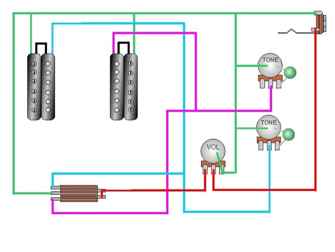 wiring diagram 2 humbuckers volume tone 3 way switch wiring diagram 2 humbuckers 1 vol tone 3 way switch wiring help ultimate guitar
