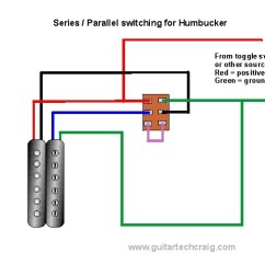 Double Humbucker Wiring Diagram 2003 Chevy Tahoe Fuse Box Craig S Giutar Tech Resource Diagrams Series Parallel Coil Switching For View