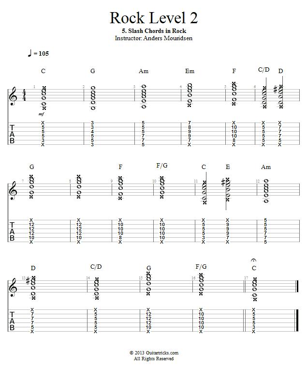 Guitar Lessons: Slash Chords in Rock