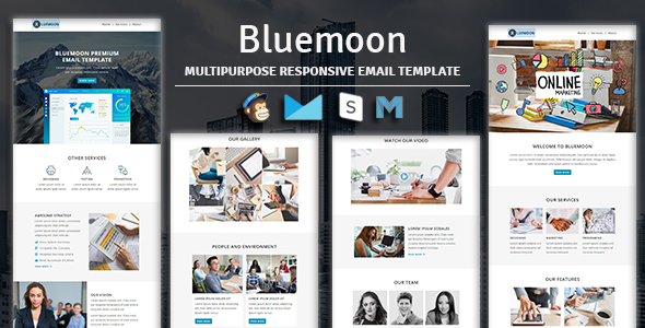 NOVA - Multipurpose Responsive Email Template With Stampready Builder & Mailchimp Access - 2