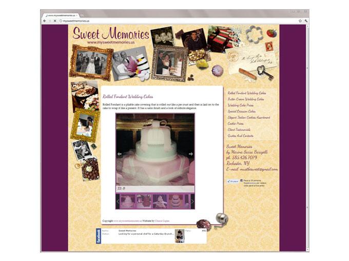 Website for Sweet Memories