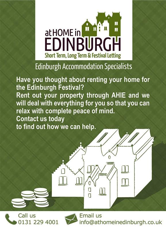 Flyer design for At Home In Edinburgh