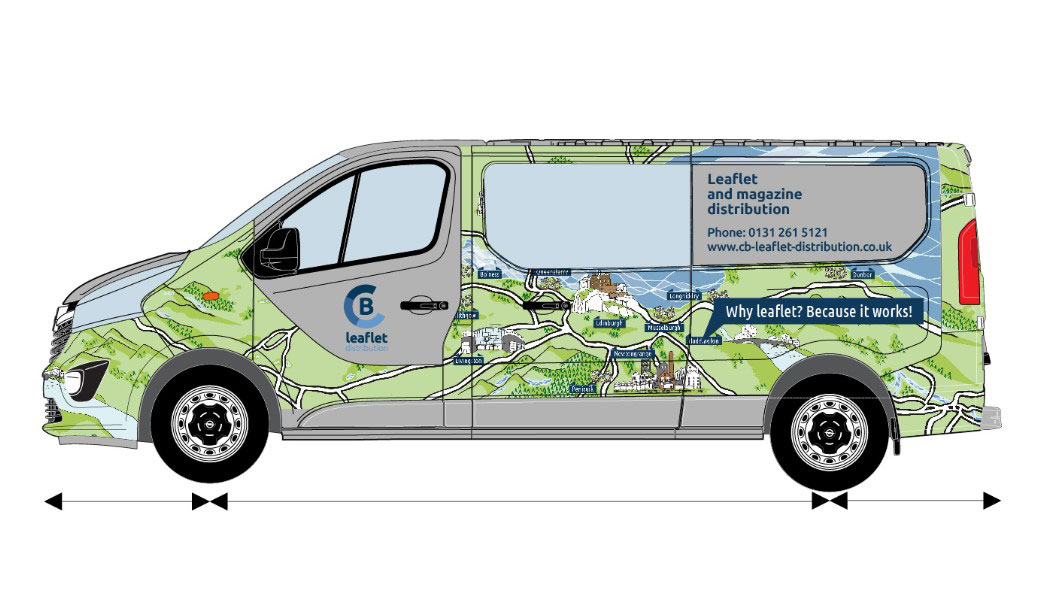 Central Belt Leaflet Distribution - Company Van Livery