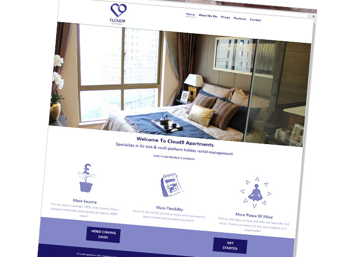 Website for Cloud 9 apartments