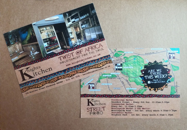 Flyer for Knoghts Kitchen