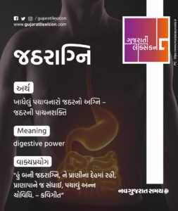 Gujarati Lexicon Word Of The Day – 21 January 2020