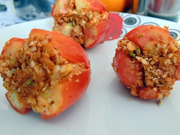 Bharela Tameta (Stuffed Tomato)