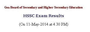 Goa 12th Board Results 2014