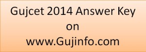 Gujcet 2014 Answer Key