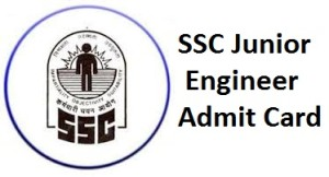SSC Junior Engineer Admit Card 2014