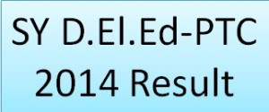 SY DElEd-PTC 2014 Result