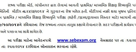 Gujarat State Scholarships 2014