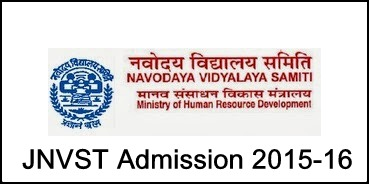 Jawahar Navodaya Vidyalaya Admission 2015-16 Notification