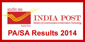 India Post PA SA Exam Results 2014 Gujarat