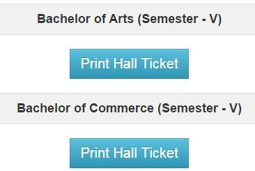 Saurashtra University BA Bcom Sem 5 Hall Ticket 2014