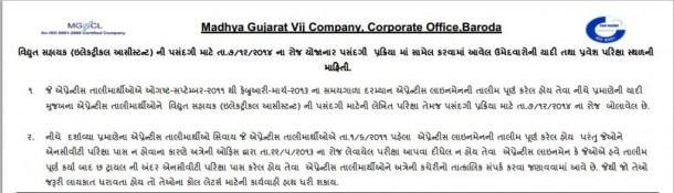 MGVCL Vidhyut Sahayak Written Exam 2014