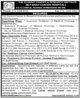 GCRI Recruitment 2014