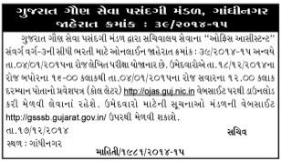 GSSSB Office Assistant Call Letter Download Notification