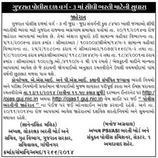 Gujarat Police Bharti Related News For Sportsmen Candidate