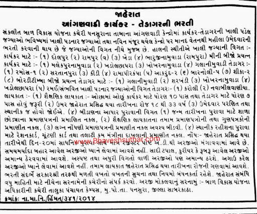 ICDS Dhansura SK Aanganwadi Helper and Tedagar Recruitment 2014