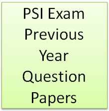 PSI Exam Old Question Paper Download