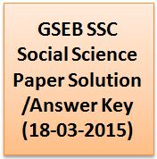 GSEB SSC Social Science Paper Solution