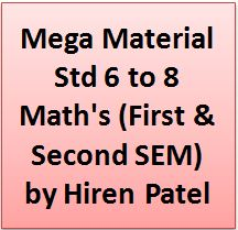 Mega Material Std 6 to 8 Maths