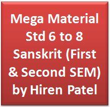 Mega Material Std 6 to 8 Sanskrit