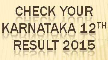 Karnataka 2nd PUC Results 2015 -karresults nic in
