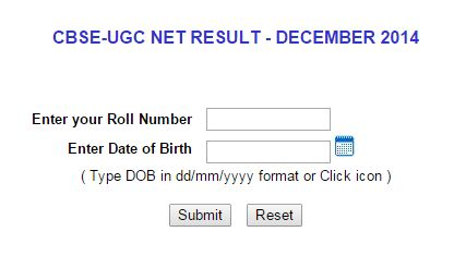 CBSE UGC NET Result December 2014