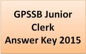 GPSSB Junior Clerk Answer Key 2015