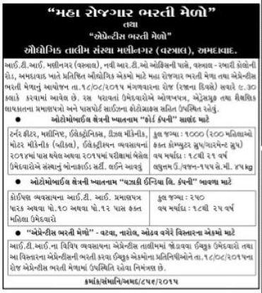 Ahmedabad Maha Rojgar Bharti Melo 2015