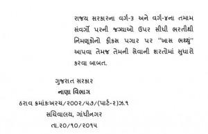 Fix Pagar Vadharo Official Paripatra
