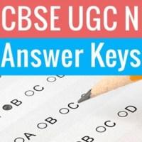 CBSE UGC NET Answer Key
