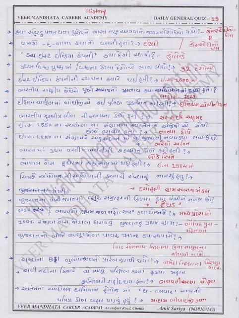 Veer mandhata career academy nu daily g.k 19