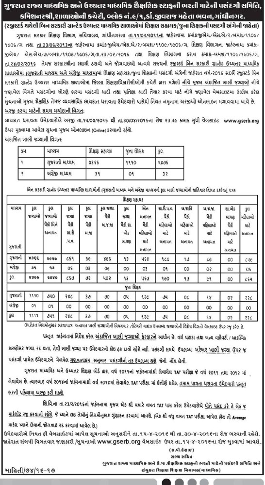 Gserb.org Teacher Recruitment 2016