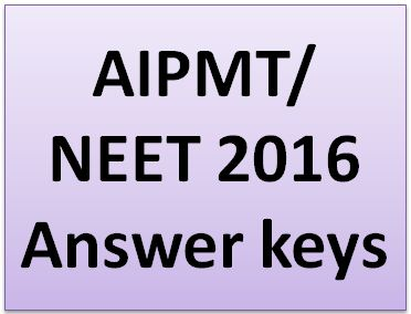 AIPMT Answer Key 2016