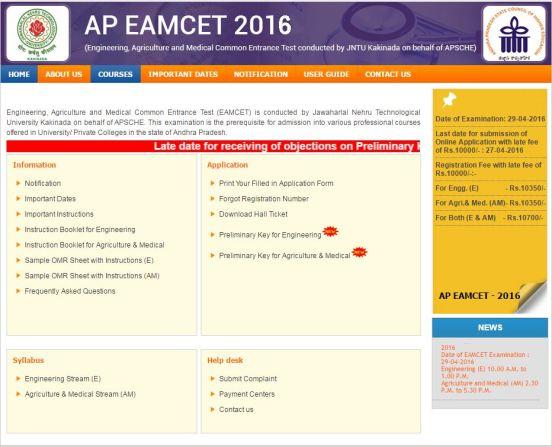 AP Eamcet Result 2016