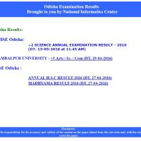 CHSE Odisha 12th Result 2016