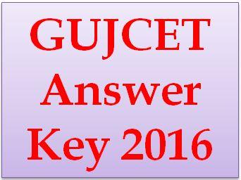 GUJCET Answer Key 2016