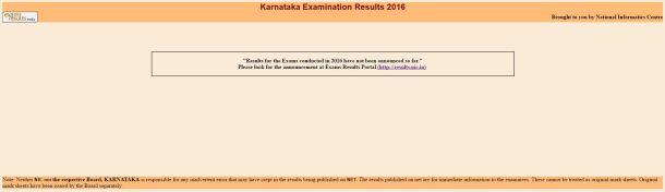 Karnataka SSLC Result 2016