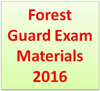 Forest Exam Materials 2016