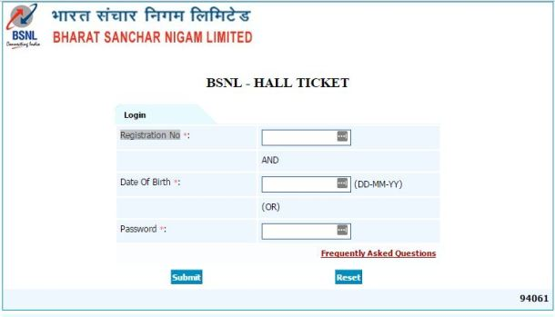 BSNL TTA JE Admit Card 2016