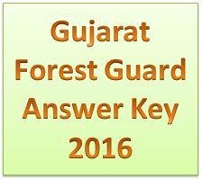 Gujarat Forest Guard Answer Key 2016