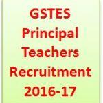 GSTES Principal Teachers Recruitment 2016-17